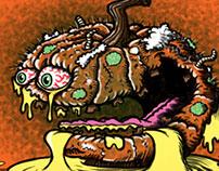 Putrid Pumpkin Food Fruit Lowbrow Cartoon Character