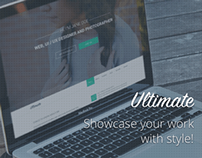 Ultimate - One Page Muse Portfolio Template