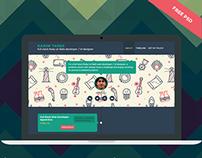 Timeliner - User profile - Free PSD