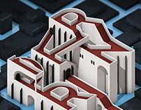 Isometric Letter Castle