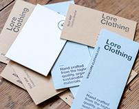 Branding of LORE CLOTHING