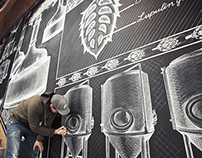 Sierra Nevada Chalk Mural