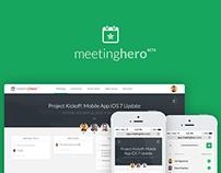 MeetingHero Responsive App Design