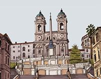 il Bacio display drawings(2014)