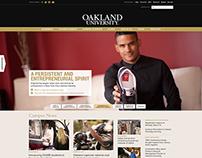 Oakland University Website Landing Pages