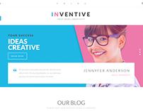 Inventive - Single & Multipage WordPress Theme