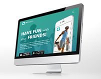 Landing page template for mobile app