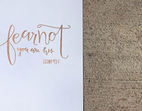 Hand lettered Prints