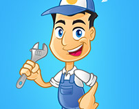 Repairman Vector Logo / Mascot