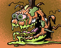 Offensive Onion Lowbrow Vegetable Cartoon Character