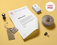 Stationery Mockup PSD