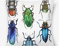 Watercolor bugs