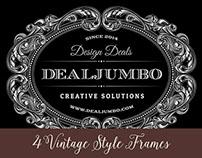 4 Free Vintage Style Frames