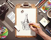 Sketchbook / Stationery Scene Creator Mock-up PSD