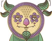 Flower monsters Illustration