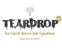 Teardrop free typeface