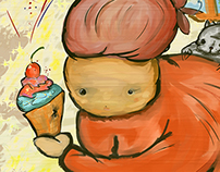Abuela y pastel