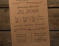 Wedding Invitation: Tara and Mike McDowell