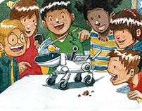 Children and school book illustration