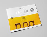 Horizontal US Letter Brochure Mock-up