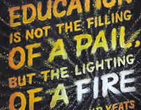 W.B. Yeats Chalkboard