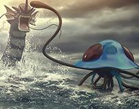 Pokemon Battle Gyarados VS Tentacruel