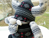 Free Shipping Unique Handmade Sock Viking Toy