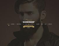 Barbershop - One Page Barbers Theme
