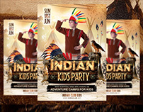 Indian Kids Party Flyer Template
