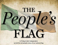 """Press ad for """"The People's Flag""""."""