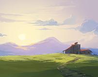 Peaceful hill