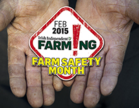 Press ad to promote Farm Safety Month.