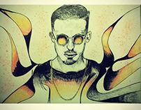 Dave luxe illustration portrait