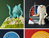 Society6: Knock Off Kaiju Series Prints