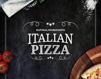 Pizza place menu