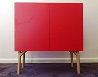 Bright Plywood Cabinet
