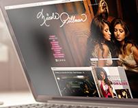 Diseño del Sitio Oficial, cantante Nicole Pillman