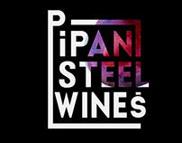 Wine label design - Pipan Steel Wines