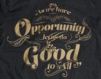 Opportunity typography