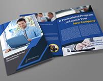 Company Brochure Bi-Fold Template Vol.39