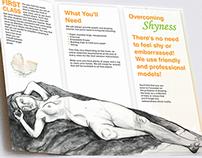 Pamphlet Design for art studio