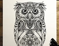 'Spotted Eagle Owl' - commission for Hoot Watches