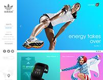 Re-Design of Adidas.com | Bright version