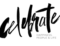 Celebrate - brush lettering project