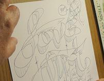 Speed drawing - sample 1 - original font