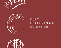 Flat letterings collection
