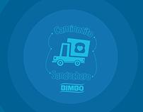 Camioncito Sanduchero BIMBO