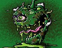 """Pungent Pepper"" Vegetable Lowbrow Cartoon Character"