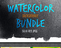 Watercolor Backgrounds Bundle