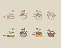 Cooking Techniques Icon Set